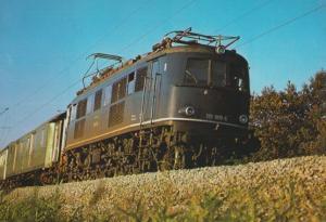 Schnellzug Lokomotive 119 001 6 Otting Weilheim Railway German Train Postcard