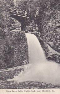 Deer Leap Falls, Childs-Park, Near Bushkill, Pennsylvania, PU-1910