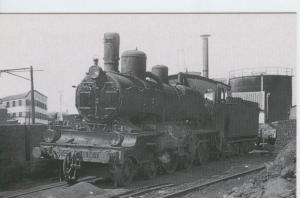 Postal 012337: Locomotora de vapor 230-4031/4103 en Zaragoza, años sesenta