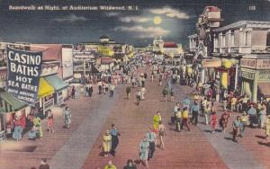 New Jersey Wildwood Boardwalk At Night Auditorium