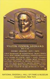 Walter Fenner Leonard Buck Baseball Hall Of Fame & Museum Cooperstown New York