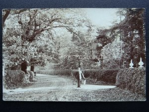 England unknown Location GENT CARRIES TWO PAILS of MILK or WATER Old RP Postcard