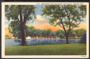 Menominee Park Boat House and Lagoon,Oshkosh,WI BIN