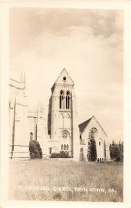 F19/ Bryn Athyn Pennsylvania RPPC Postcard c1940s Cathedral Church