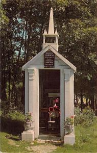 Wiscasset Maine~Union Church of All Saints~Smallest in the World~1950s Postcard