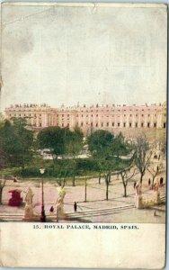 1909 Royal Palace Madrid Spain Postcard