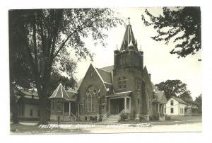 1948 Presbyterian Church, Wonkon, Iowa, Rppc