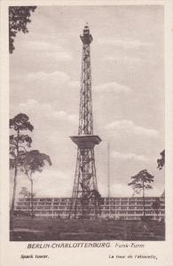 BERLIN, Germany, 1900-1910's; Berlin Charlottenburg, Funk Turm, Spark Tower