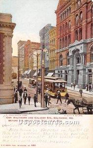 Cor Baltimore & Calvert Streets, Great Fire Feb 7 & 8 1904 in Baltimore, Mary...