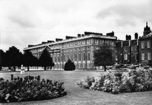 Vintage REAL PHOTO Postcard HAMPTON COURT PALACE from the North East by MOW