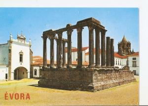 Postal 025583 : Templo Romano (Seculos II-III). Evora (Portugal)