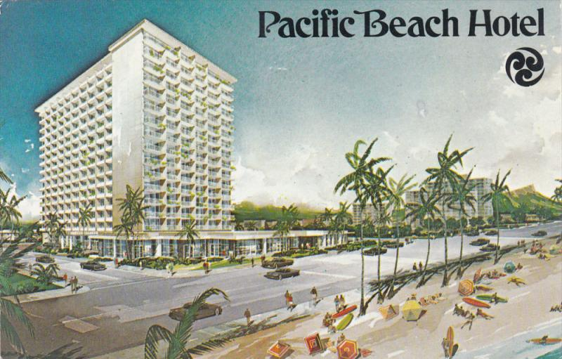 Honolulu Hawaii Pu 1970 Pacific Beach Hotel Clic Cars