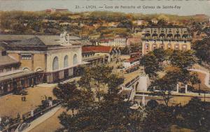 France Lyon Gare de Perrache et Coteau de Sainte-Foy