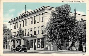 Tell City Indiana Tell Hotel Antique Postcard J52397