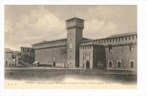 Milano , Italy, 00-10s   Facciata interna del Castello Sforzesco e torre di Bona