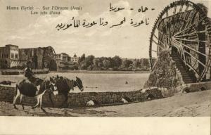 syria, HAMA حماة, Sur l'Oronte, Noria (1921) Wattar Freres No. 117 Postcard