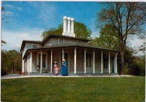 VINTAGE POSTCARD COLBORNE LODGE HIGH PARK TORONTO BUILT IN 1836 TRAVELTIME CARD