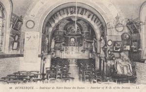 Dunkerque Notre Dames Des Dunes Interieur Dame Of The Downs Religious Postcard