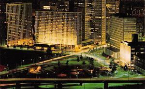 Pittsburgh Pennsylvania~Downtown Pittsburgh At Night~1960 Postcard