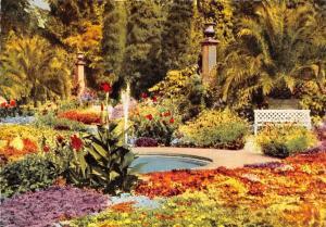 Das schoene Bad Pyrmont Partie im Palmengarten Garden Fountain Flowers