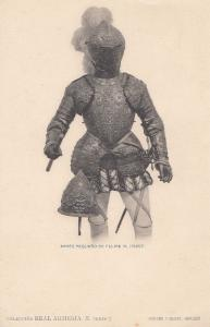 Philip Felipe 3 III King Of Spain II Portugal Knight Armour Old Postcard