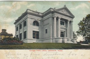 LEAVENWORTH , Kansas , 1908 ; Carnegie Public Library
