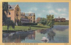 Nevada Reno Manzanite Lake University Of Nevada 1945 Curteich