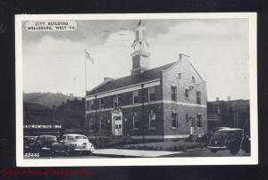 WELLSBURG WEST VIRGINIA 1940's CARS CITY BUILDING ANTIQUE VINTAGE POSTCARD