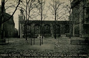 UK - England, London. Tower of London, Green, Execution Place, St Peter's