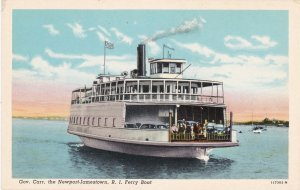 Rhode Island Newport Ferryboat Governor Carr Curteich sk5824