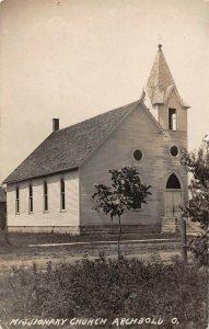 LPS93 Archbold Ohio Missionary Church Postcard RPPC