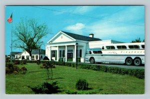 Somerset KY, Greyhound Inn Motel, Greyhound Bus, Chrome Kentucky Postcard