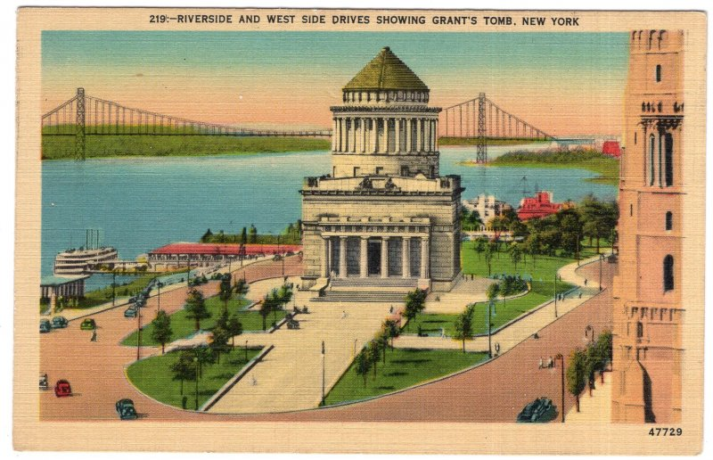 Riverside And West Side Drives Showing Grant's Tomb, New York