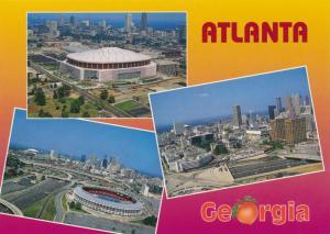 Multiview of Atlanta GA, Georgia - Fulton County Baseball Stadium - Georgia Dome