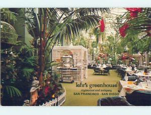 1980's LEHR'S GREENHOUSE RESTAURANT San Francisco CA Postcard j6109-12