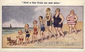 Artist Signed Donald McGill Postcard Postcards Vacation Comic No. 121 Artist ...