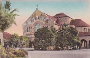 California Memorial Church Stanford University Handcolored Albertype