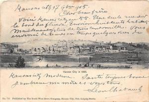 Mo. Kansas City in 1855 ship ships boat 1905