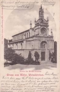 Gruss aus Mahr. Weisskirchen., Austria, PU-1902-WIEN Kirche der Militar-Schulen