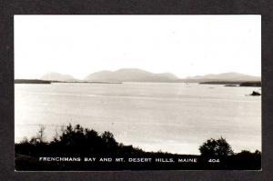 ME View Frenchmans Bay Mt Desert Hills Maine Real Photo Postcard RPPC RP PC