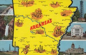 ARKANSAS Map , 30-40s ; 6-views