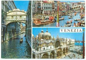 Italy, Venice, Venezia, used Postcard