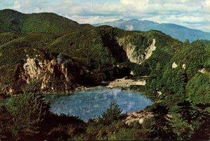 New Zealand Rotorua Waimangu Geyser Valley Frying Pan Lake