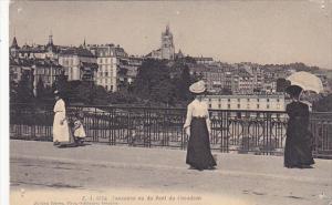 Switzerland Lausanne vu du Pont du Chaudron