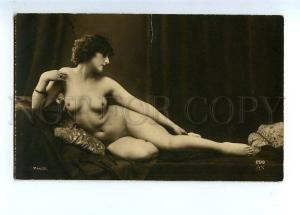 129050 NUDE Woman on Pillow Vintage PHOTO MANDEL #299 PC