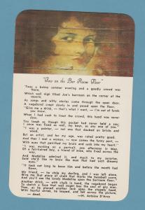 Face on the Barroom Floor Postcard Poem, Teller House Central City, Colorado