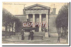 Pont l & # 39Eveque Old Postcard Place Courthouse (animated)
