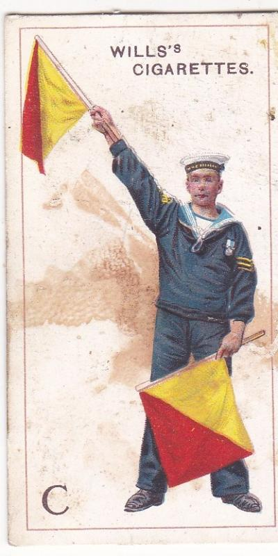 Cigarette Card  Wills Signalling Series No. 3 Letter C