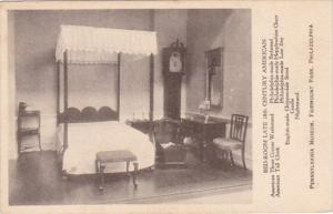Pennsylvania Philadelphia Bedroom Late 18th Century American Pennsylvania Mus...