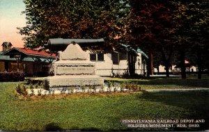 Ohio Ada Pennsylvania Railroad Depot and Soldiers Monument